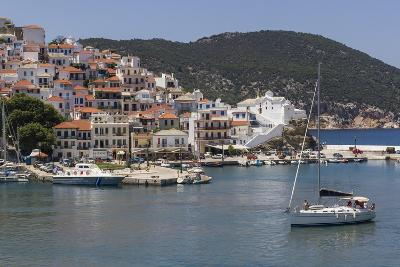 Boat Entering Harbour, Skopelos, Sporades, Greek Islands, Greece, Europe-Rolf Richardson-Photographic Print