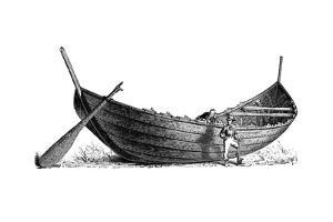 Boat for Fourteen Pairs of Oars, Found at Nydam, Jutland, 1892