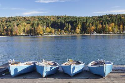 Boat Hire, Walchensee Village, Walchensee Lake, Bavarian Alps, Upper Bavaria, Bavaria, Germany-Markus Lange-Photographic Print