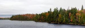 Boat in Canoe Lake, Algonquin Provincial Park, Ontario, Canada