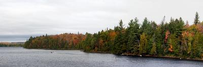 Boat in Canoe Lake, Algonquin Provincial Park, Ontario, Canada--Photographic Print