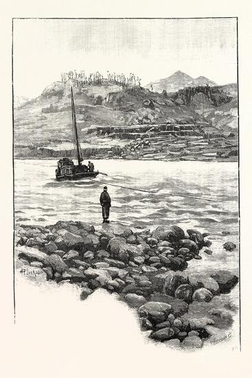 Boat in the Rapids. Western China 2000 Miles from Shanghai--Giclee Print