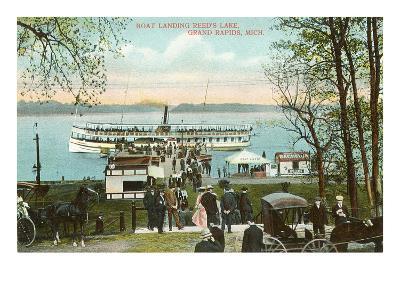 Boat Landing, Grand Rapids, Michigan--Art Print