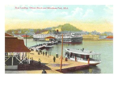 Boat Landing, Macatawa Park, Michigan--Art Print
