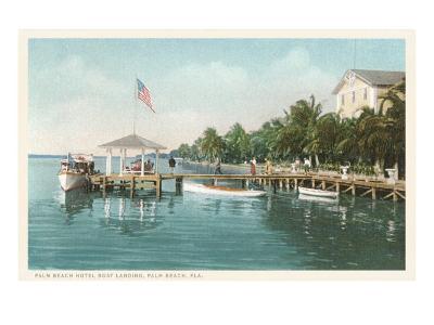 Boat Landing, Palm Beach, Florida--Art Print