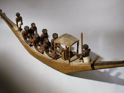 Boat, Model, Painted Wood c. 2000 BC Middle Kingdom Egyptian--Photographic Print