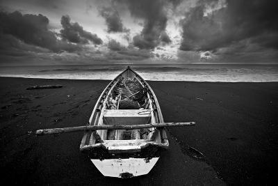 Boat, Monterico Beach--Photographic Print