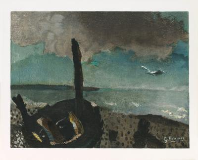 Boat on a shore in Brittany-Georges Braque-Collectable Print