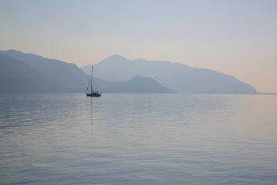 Boat on Aegean Sea, Marmaris, Anatolia, Turkey, Asia Minor, Eurasia-Frank Fell-Photographic Print