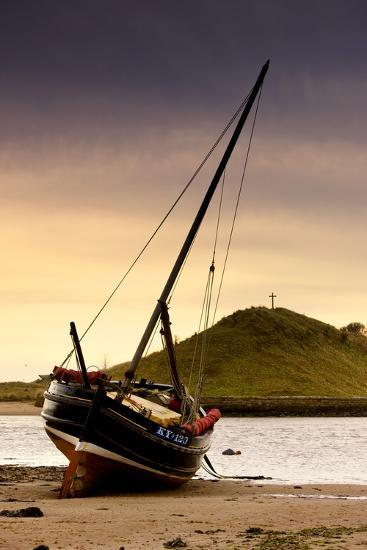 Boat on Beach at Low Tide; Alnmouth, Northumberland, England-Design Pics Inc-Photographic Print