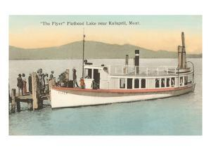 Boat on Flathead Lake, Montana