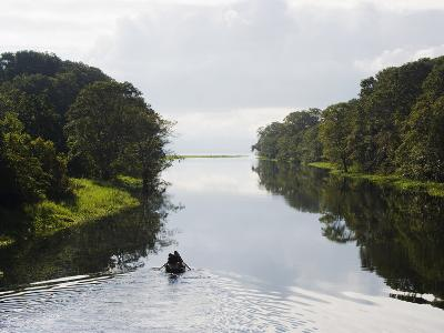 Boat on Lago De Yojoa, Lake Yojoa, Honduras, Central America-Christian Kober-Photographic Print
