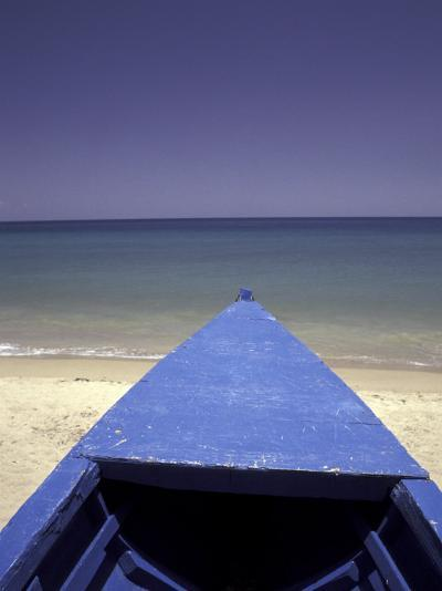 Boat on Pinney Beach, Nevis, Caribbean-Robin Hill-Photographic Print