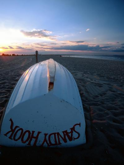 Boat on Sandy Hook Beach, New Jersey-George Oze-Photographic Print