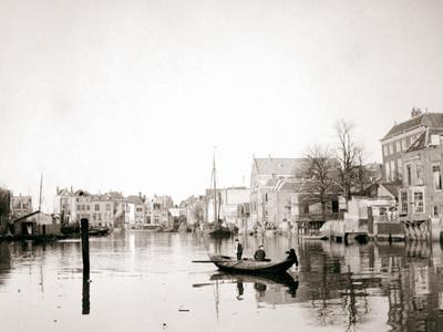 Boat on the Canal, Dordrecht, Netherlands, 1898-James Batkin-Photographic Print