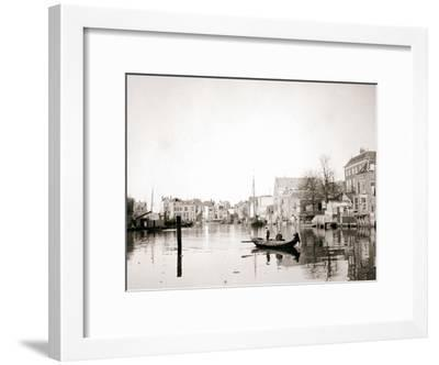 Boat on the Canal, Dordrecht, Netherlands, 1898-James Batkin-Framed Photographic Print