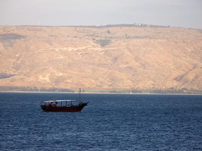 Boat on the Sea of Galilee, Israel, Middle East--Photographic Print