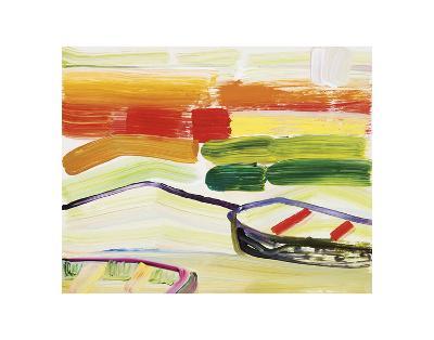 Boat on the Sea?s Edge-Joan Davis-Art Print