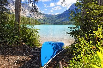 Boat on the Shore, Emerald Lake, Canada-George Oze-Photographic Print
