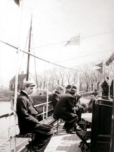 Boat Passengers, Broek, Netherlands, 1898-James Batkin-Photographic Print