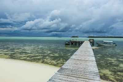 Boat Pier on Carp Island, One of the Rock Islands, Palau, Central Pacific-Michael Runkel-Photographic Print