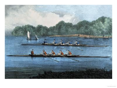 Boat Race-Currier & Ives-Art Print