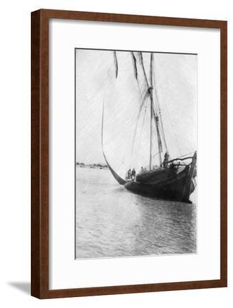 Boat Setting Sail on the River Tigris, Mesopotamia, 1918