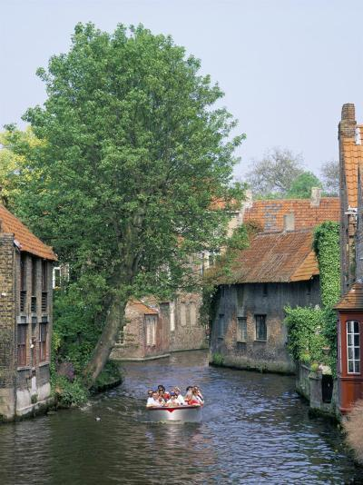Boat Trips Along the Canals, Brugge (Bruges), Belgium-Roy Rainford-Photographic Print