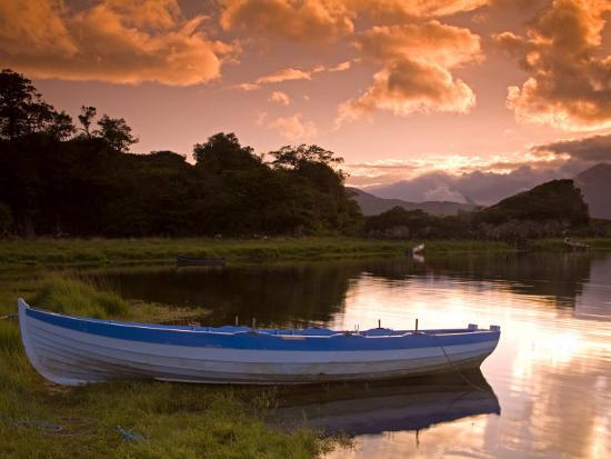 Boat, Upper Lake, Killarney National Park, County Kerry, Munster, Republic of Ireland, Europe-Richard Cummins-Photographic Print