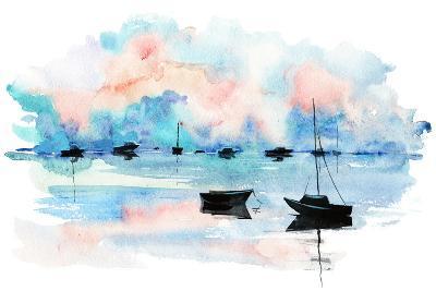 Boat-okalinichenko-Art Print