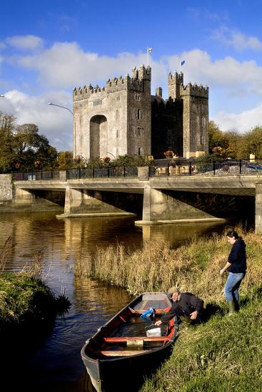 Boaters Along the Shannon River Near Bunratty Castle, County Clare, Ireland-Chris Hill-Photographic Print