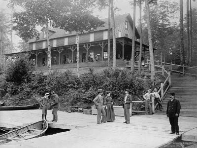 Boaters at Lake Lodge-Seneca Ray Stoddard-Photographic Print
