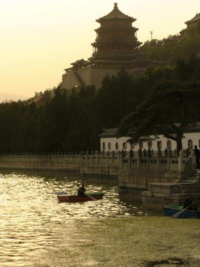 Boaters on Kunming Lake at the Summer Palace-Richard Nowitz-Photographic Print