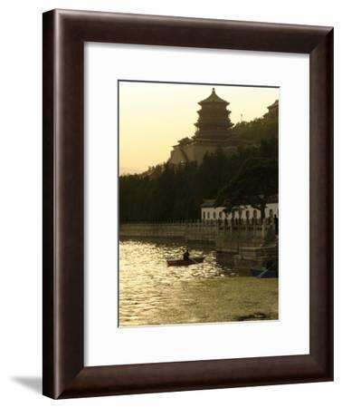 Boaters on Kunming Lake at the Summer Palace-Richard Nowitz-Framed Photographic Print