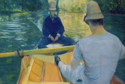 Boaters on the Yerres-Gustave Caillebotte-Giclee Print