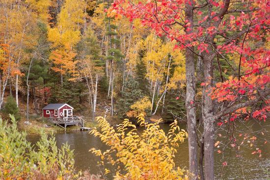 Boathouse In Autumn, Marquette, Michigan '12-Monte Nagler-Photographic Print