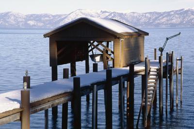Boathouse on Lake Tahoe, California-George Oze-Photographic Print