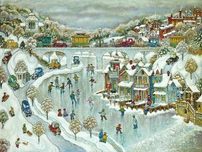 Boathouse Snow-Bill Bell-Giclee Print