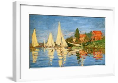 Boating at Argenteuil-Claude Monet-Framed Giclee Print