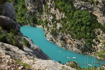 Boating in Gorges Du Verdon, Alpes De Haute Provence, France-Brian Jannsen-Photographic Print