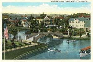 Boating on the Canal, Venice, California