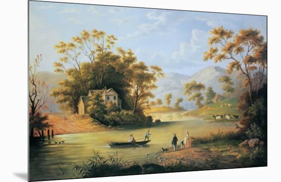 Boating On The Hudson-John Woodhouse Audubon-Mounted Art Print