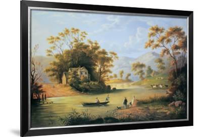Boating On The Hudson-John Woodhouse Audubon-Framed Art Print