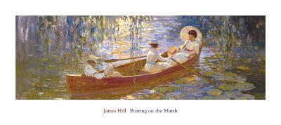 Boating on the Marsh-James Hill-Art Print