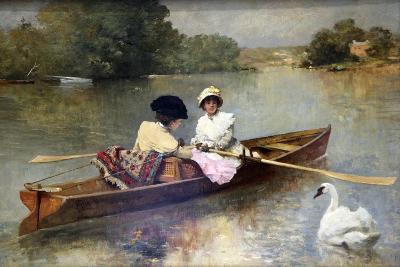 Boating on the Seine, 1875-1876-Ferdinand Heilbuth-Giclee Print