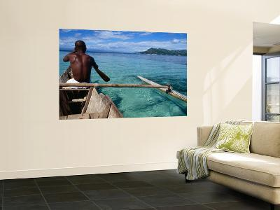 Boatman on Dugout Canoe-Olivier Cirendini-Wall Mural