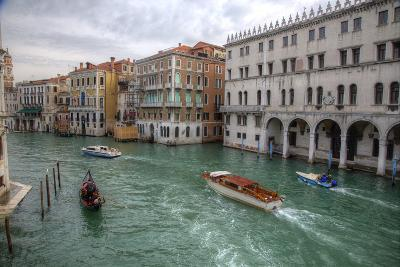Boats Along the Grand Canal Venice, Italy-Darrell Gulin-Photographic Print