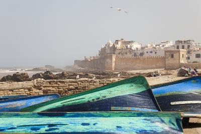 Boats and City Walls, Essaouira, Morocco-Peter Adams-Photographic Print