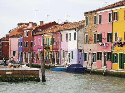 Boats and Colorful Homes in Canal, Burano, Italy-Dennis Flaherty-Photographic Print