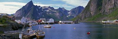 Boats and Cottages in Reine Harbour, Lofoten Islands, Norway--Photographic Print